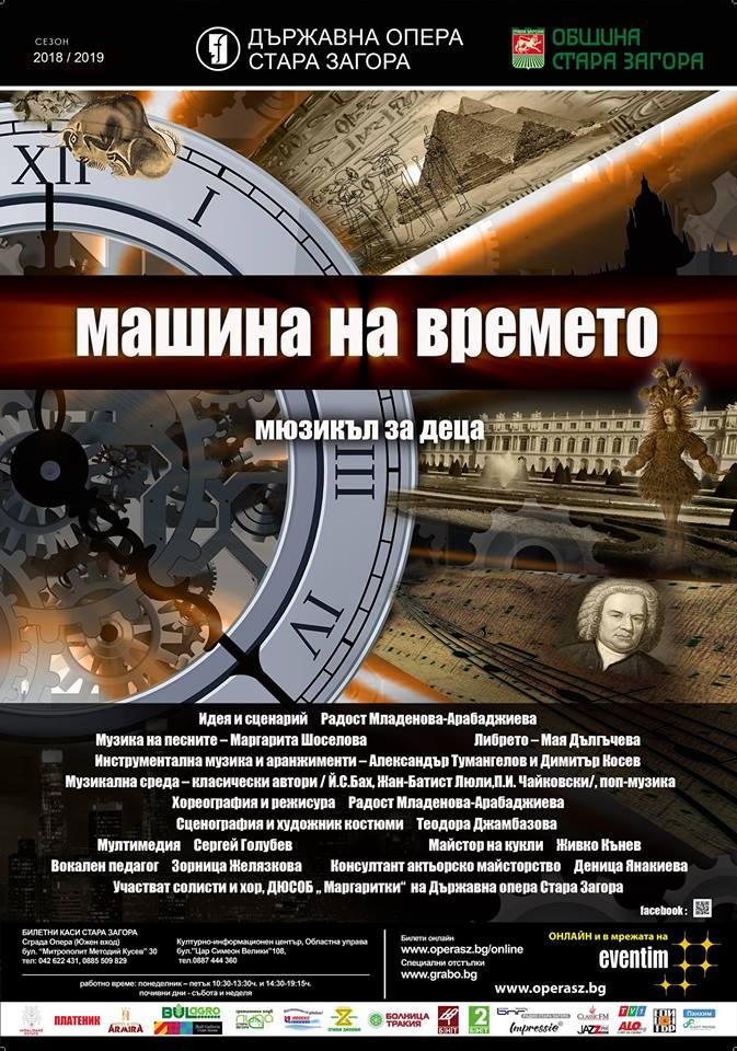 машина на времето плакат