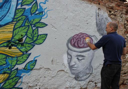 демонстрация на графити