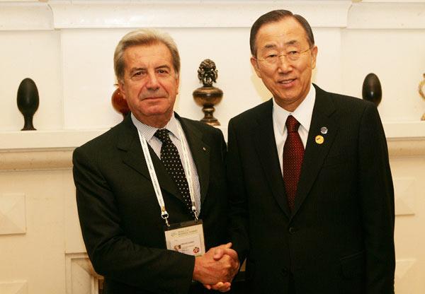 Генералният секретар на ООН Бан Ки-Мун се срещна с главния изпълнителен директор на Enel Фулвио Конти