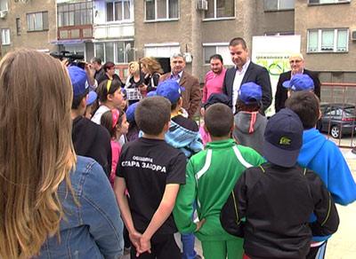 Граждански клуб ЛИПА направи спортна площадка за деца