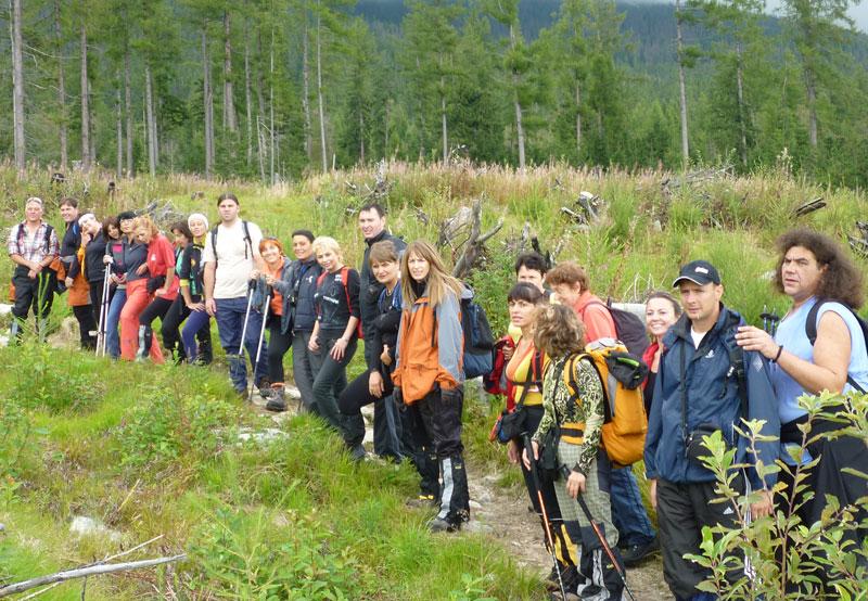 На път за хижа Слиешки дом при изкаване на най-високия връх Герлаховски щит (2655 м.) във високите Татри