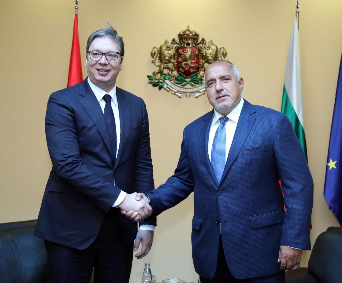 Министър-председателят Бойко Борисов и президентът на Сърбия Александър Вучич проведоха двустранна среща
