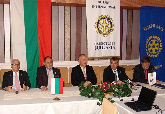 Ротари Дистрикт България 2482 - пресконференция в Стара Загора