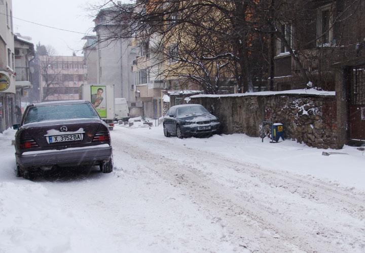 Стара Загора сняг