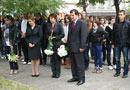 Недялко Недялков и ученици от ГПЧЕ Ромен Ролан Световен ден на жертвите на катастрофи